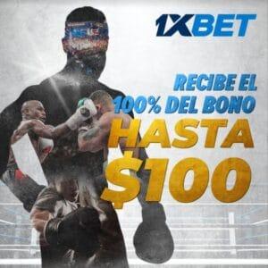 bono de bienvenida 1xbet para clientes Mexicanos 100 dólares