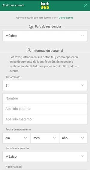 Rellenar el formulario con los datos personales